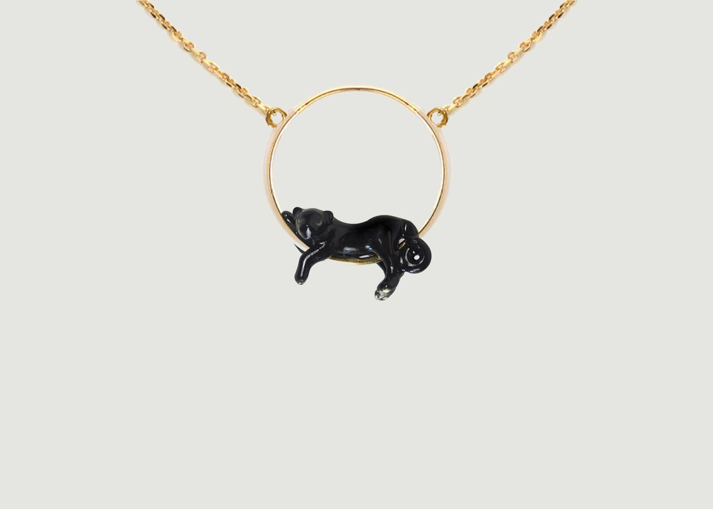 Mini Collier Lying Black Panther  - Nach