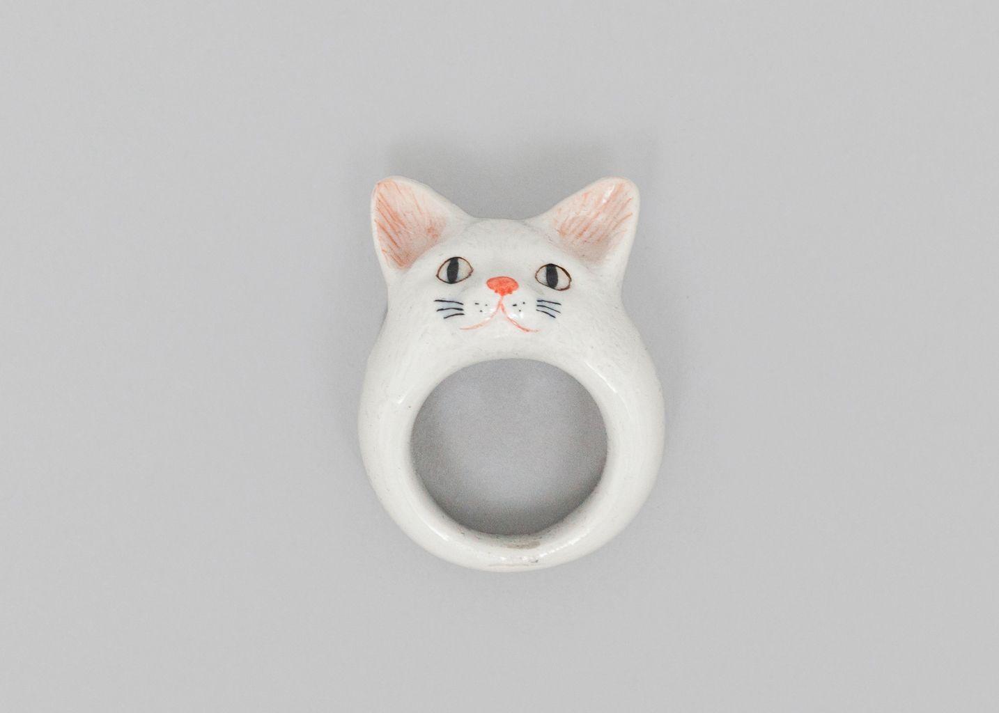 White Cat Ring - Nach Bijoux