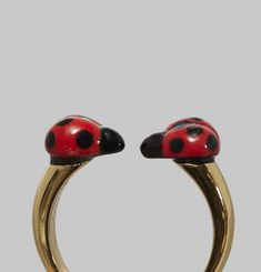 Bague Coccinelles Face to Face