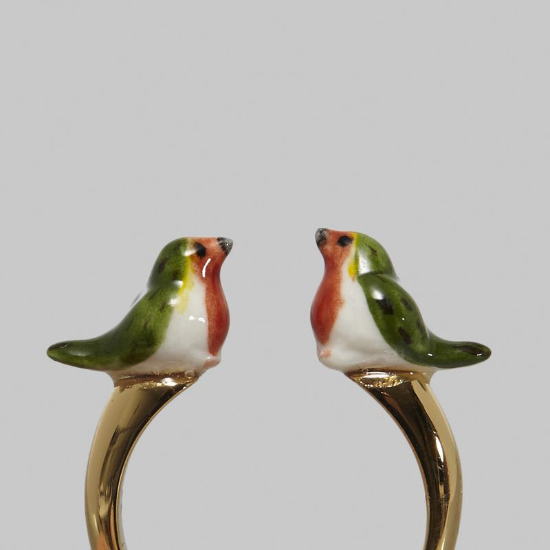 Bague Robin Bird Face to Face - Nach