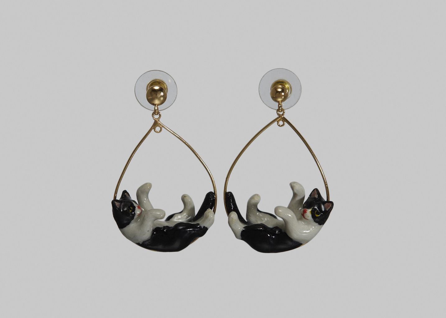 Boucles d'Oreilles Playing Cat - Nach