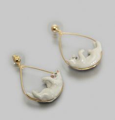 Boucles d'Oreilles Playing Cat