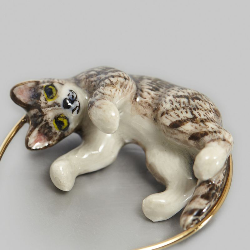 Boucles d'Oreilles Playing Cat - Nach