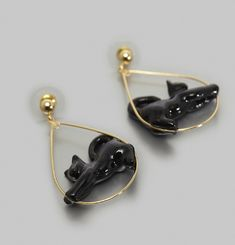 Boucles d'Oreilles Stretching Cat