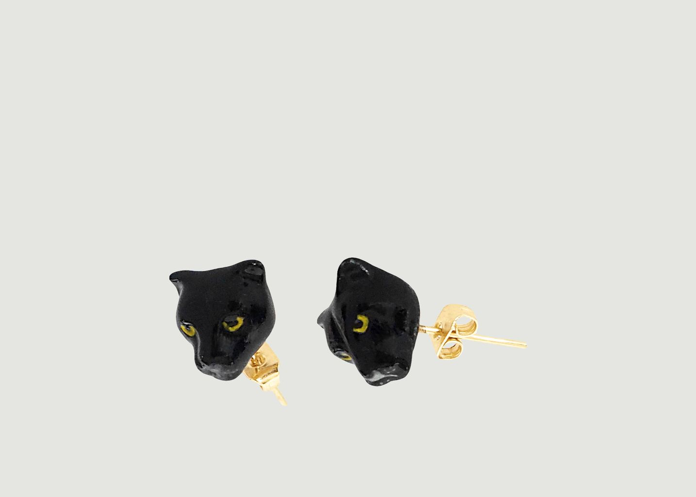 Boucles d'Oreilles Mini Black Panther Head - Nach