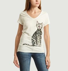 T-Shirt En Coton Bio Laughing Cat