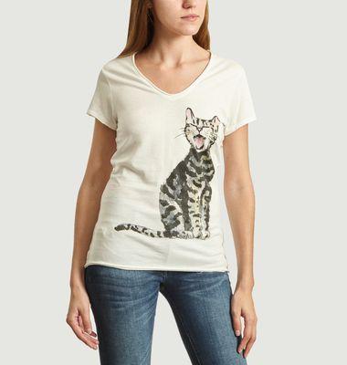 T-Shirt En Coton Bio Laughing Cat