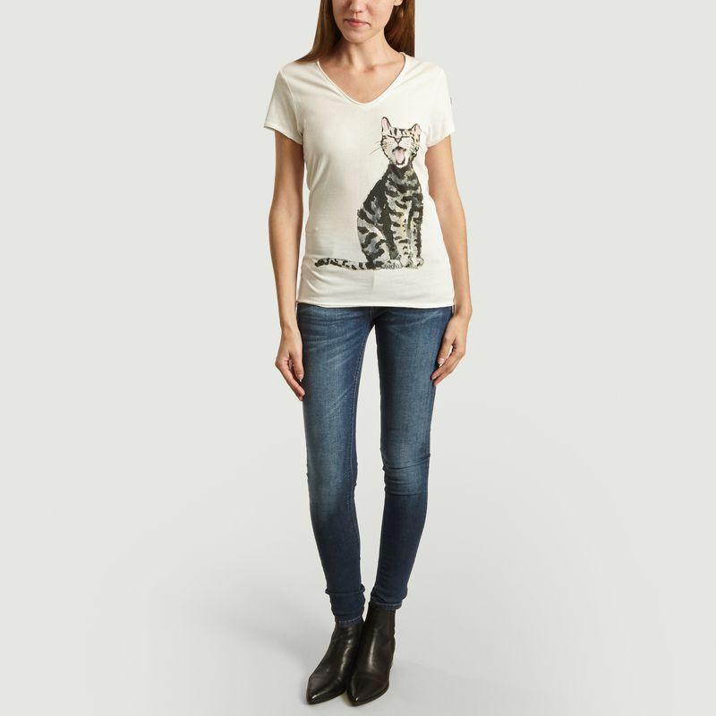 T-Shirt En Coton Bio Laughing Cat - Nach