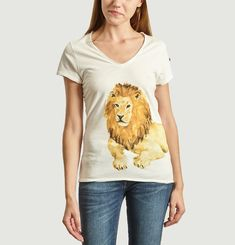 T-Shirt En Coton Bio Lion
