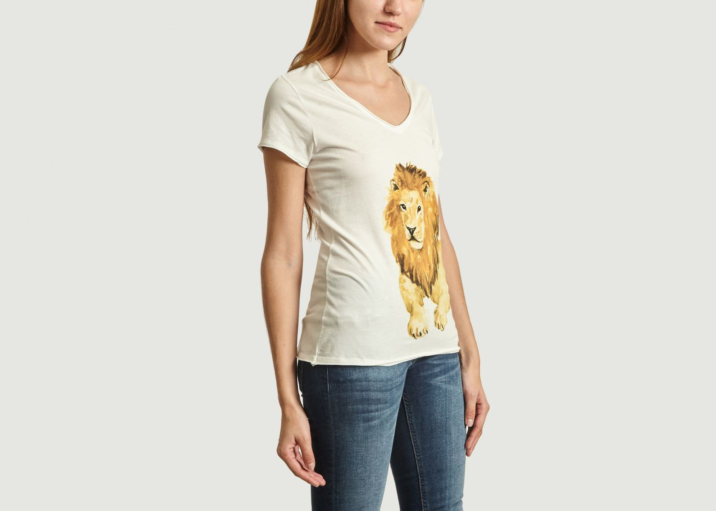 T-Shirt En Coton Bio Lion - Nach