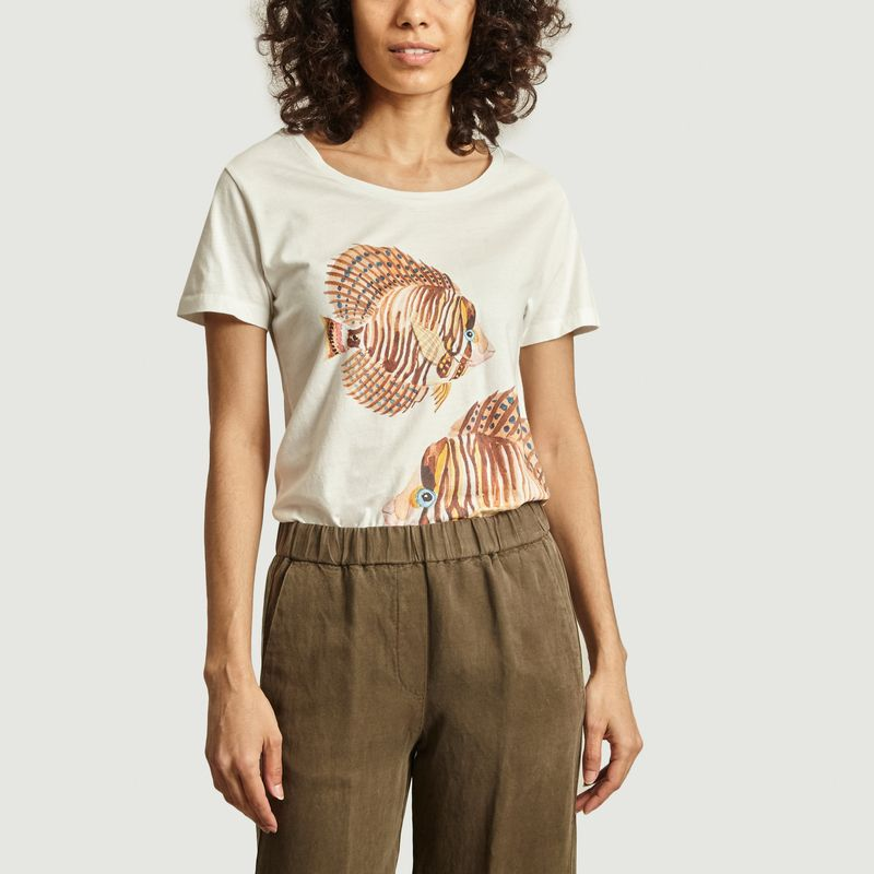 Tshirt Brown Fish - Nach
