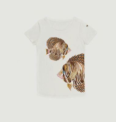 Tshirt Brown Fish