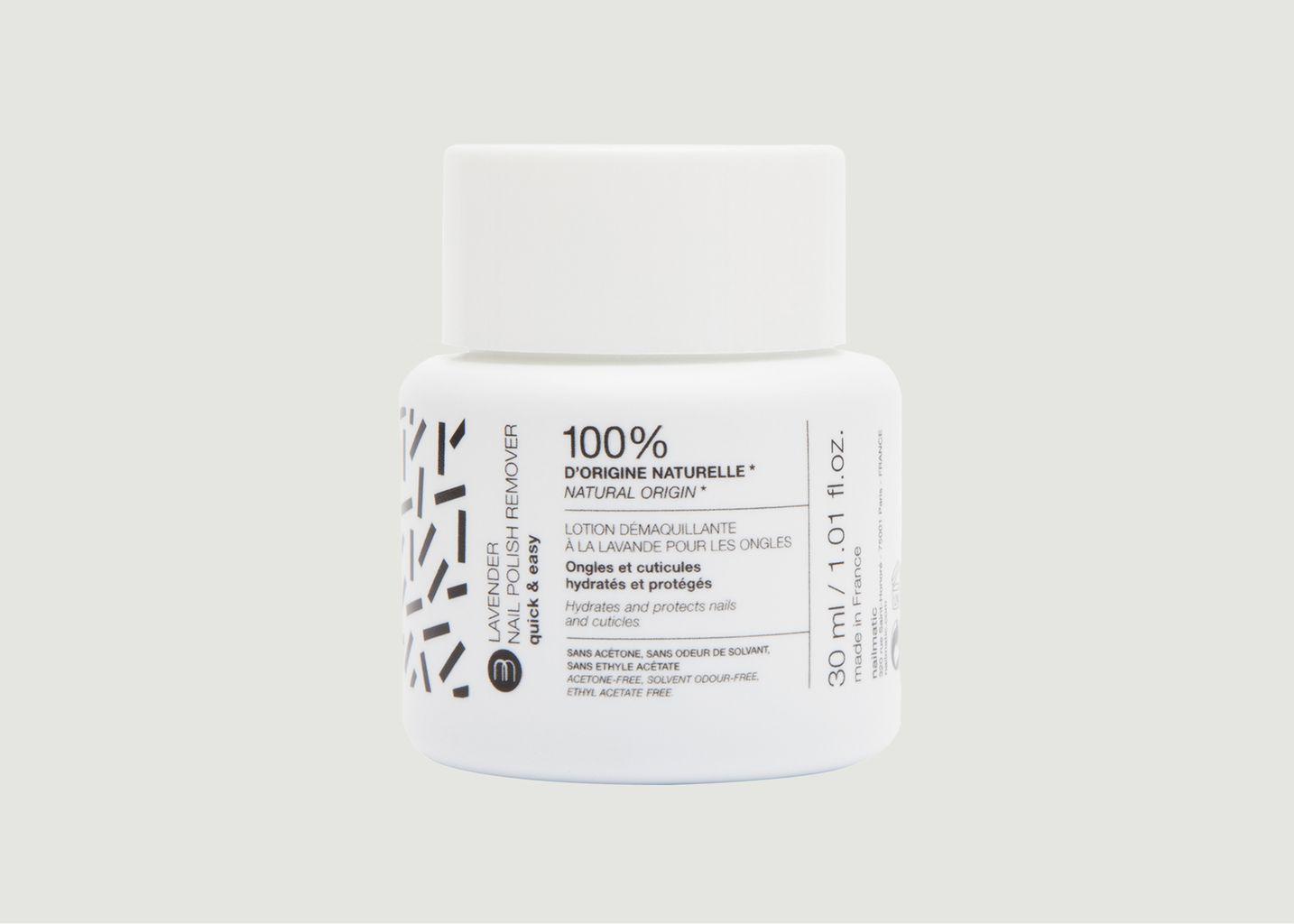 Bain dissolvant naturel à la lavande 30 ml - nailmatic