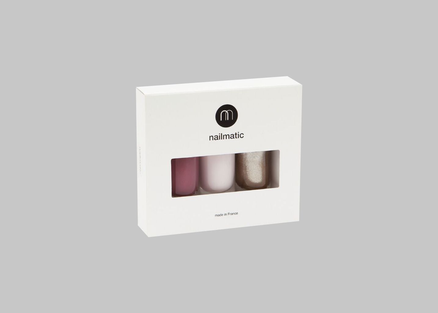 Coffret 3 Vernis Rose et Or - nailmatic