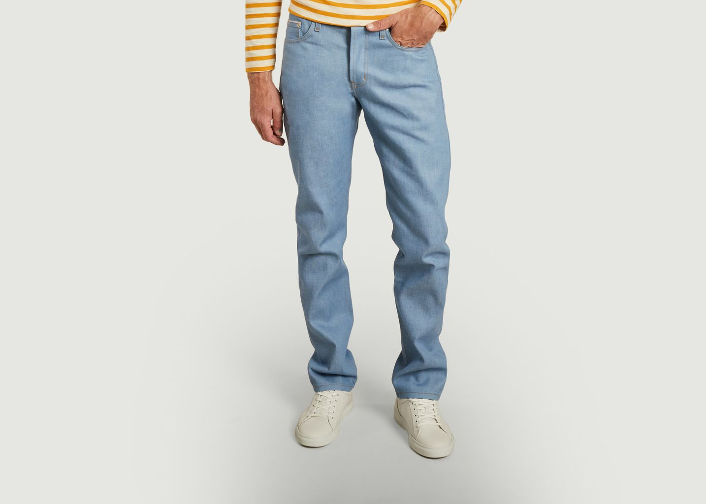 Jean Weird Guy Summer Sky Selvedge - Naked and Famous