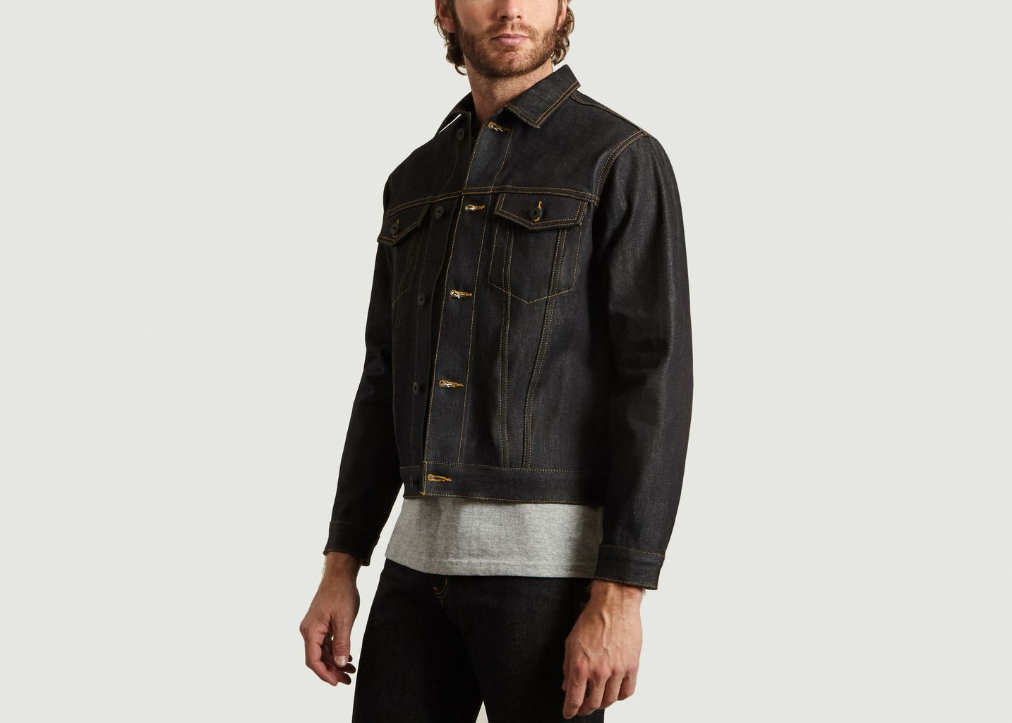 Veste en Jean Brut Guardian Selvedge - Naked and Famous