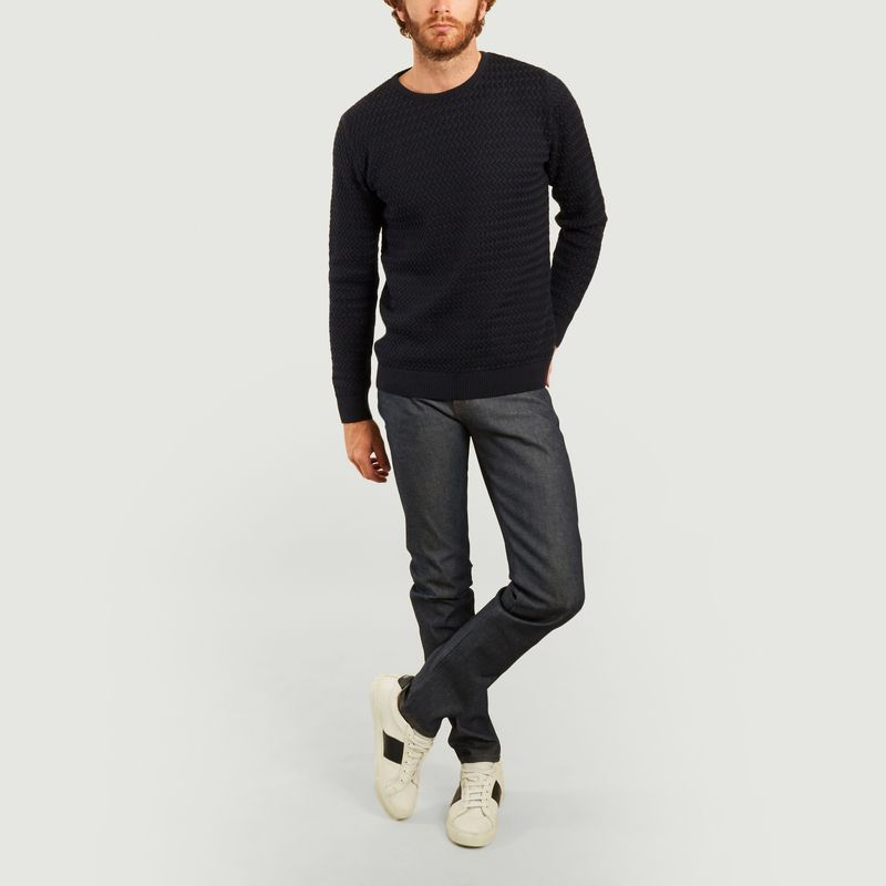 Jean super guy natural indigo selvedge - Naked and Famous