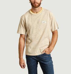 T-Shirt Rayé en Coton Coolmax