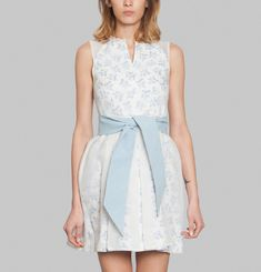 Blue Apples Ribbon Dress