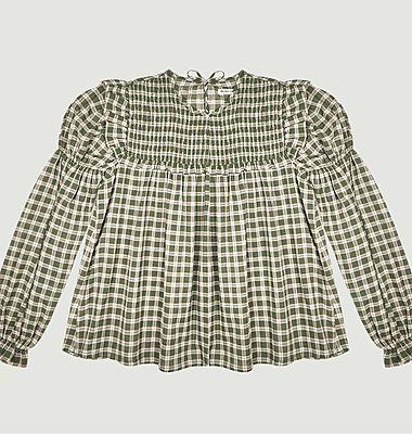 Dominique checked blouse
