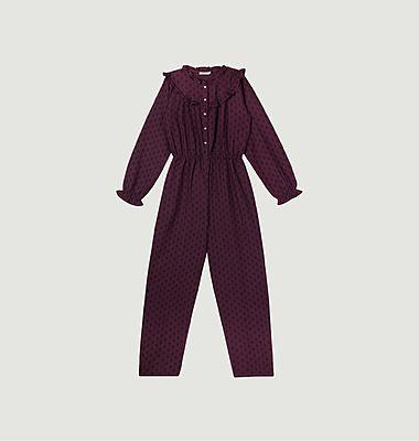 Annet fancy pattern long sleeves jumpsuit