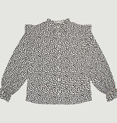 Gannin leopard pattern blouse