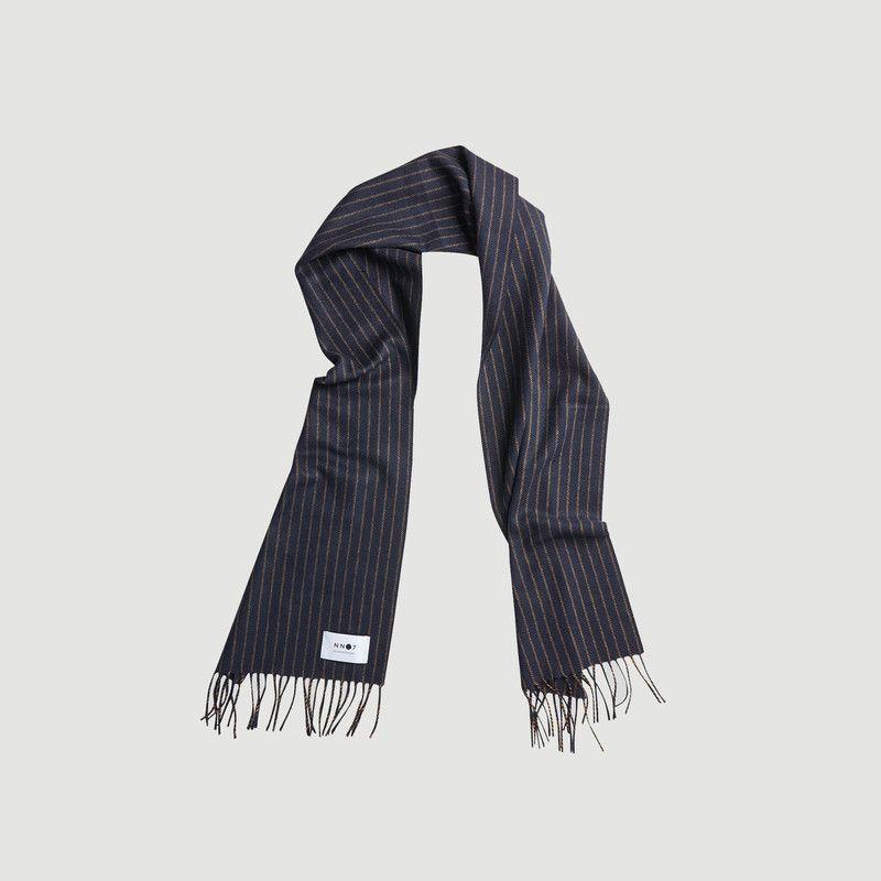 Echarpe rayée en laine et cachemire - NN07