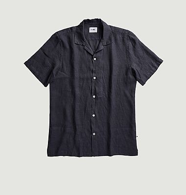 Chemise manches courtes en lin Miyagi