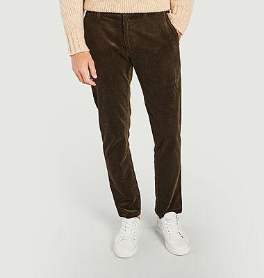 Pantalon droit en velours côtelé Karl