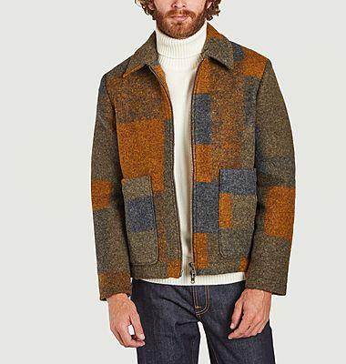 Gael cheked woolen zipped jacket