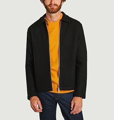 Veste zippée en laine mérinos Ivan