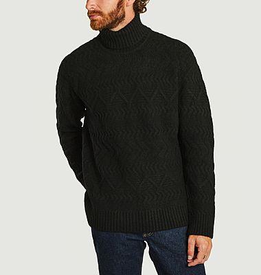 Pull col roulé en laine mérinos Bert