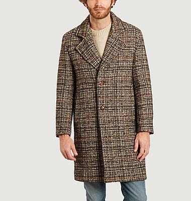 Manteau en Laine texturé carreaux Dante