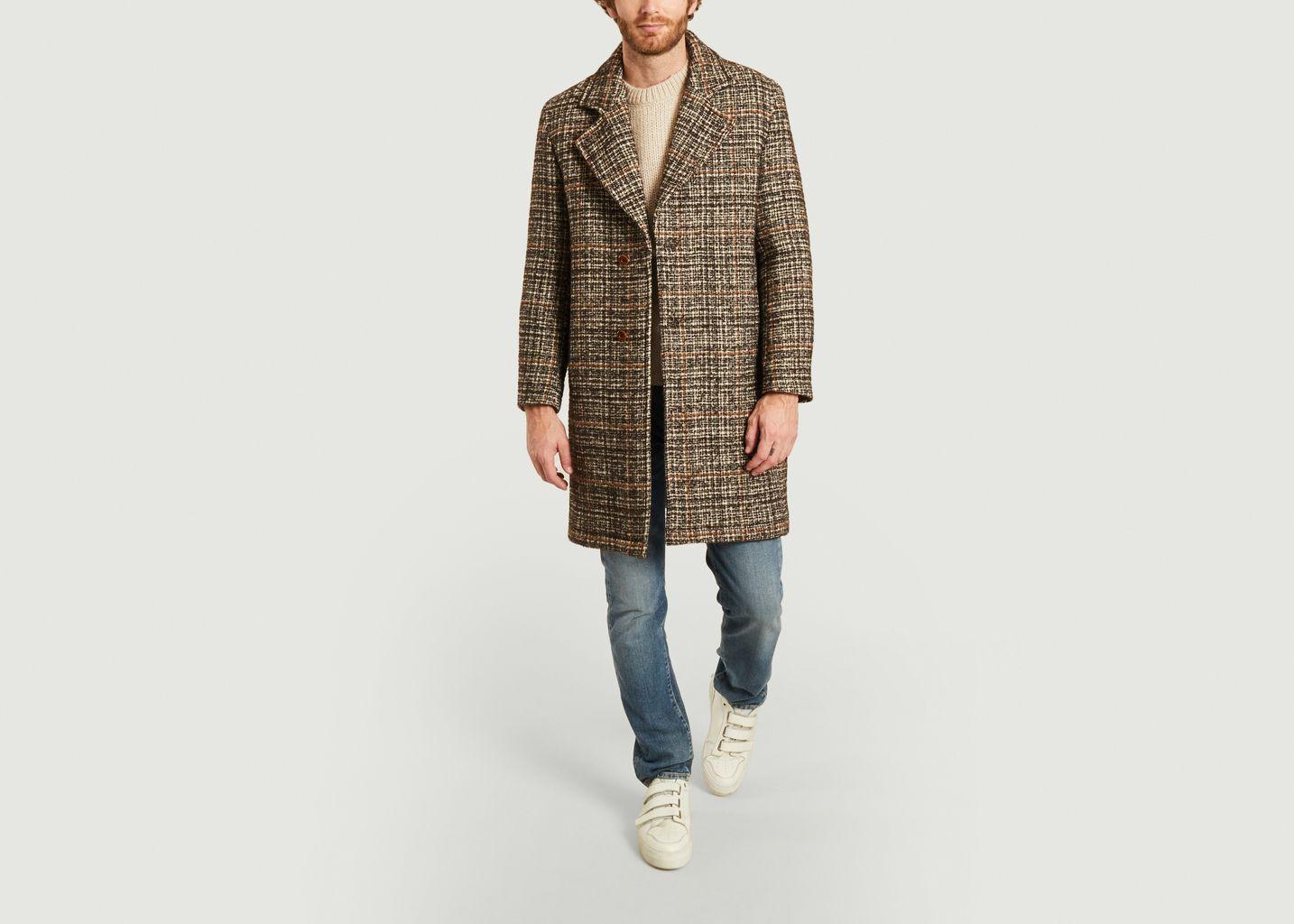 Manteau en Laine texturé carreaux Dante - NN07