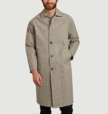 Manteau à carreaux en coton bio Mac Mayfair