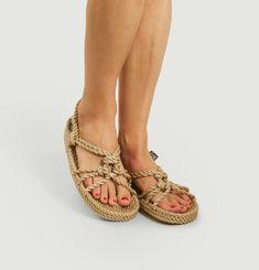 Sandale Wedge Semelle Plate