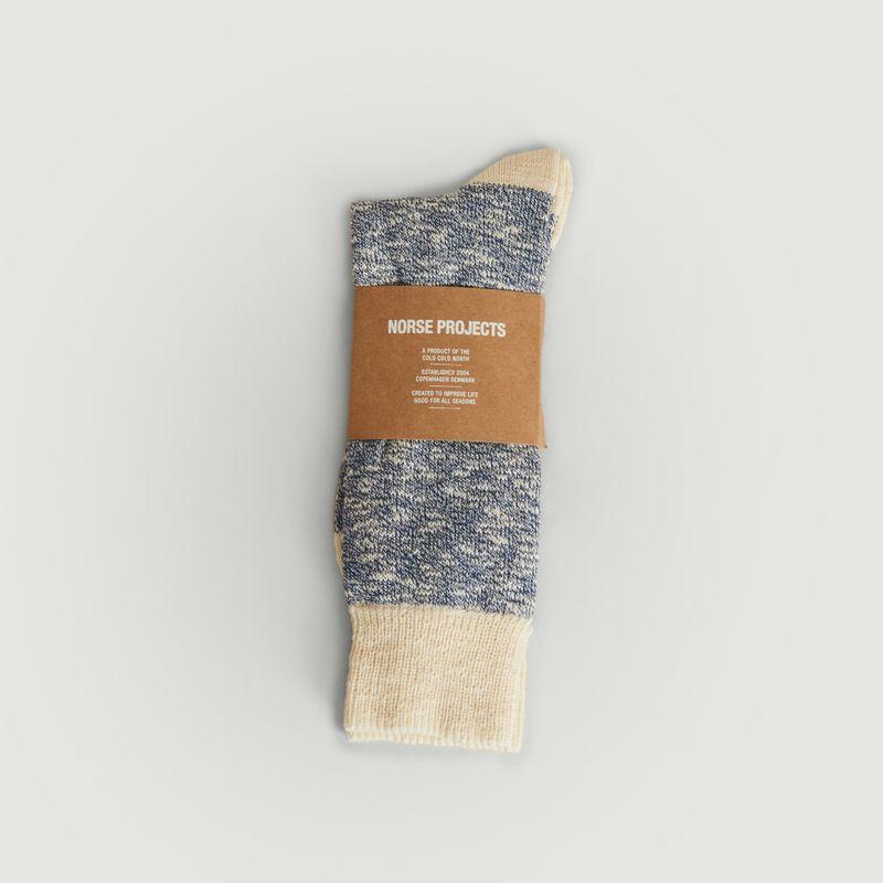 Chaussettes Ebbe bleu - Norse Projects