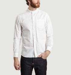 Chemise Hans Collarless Oxford
