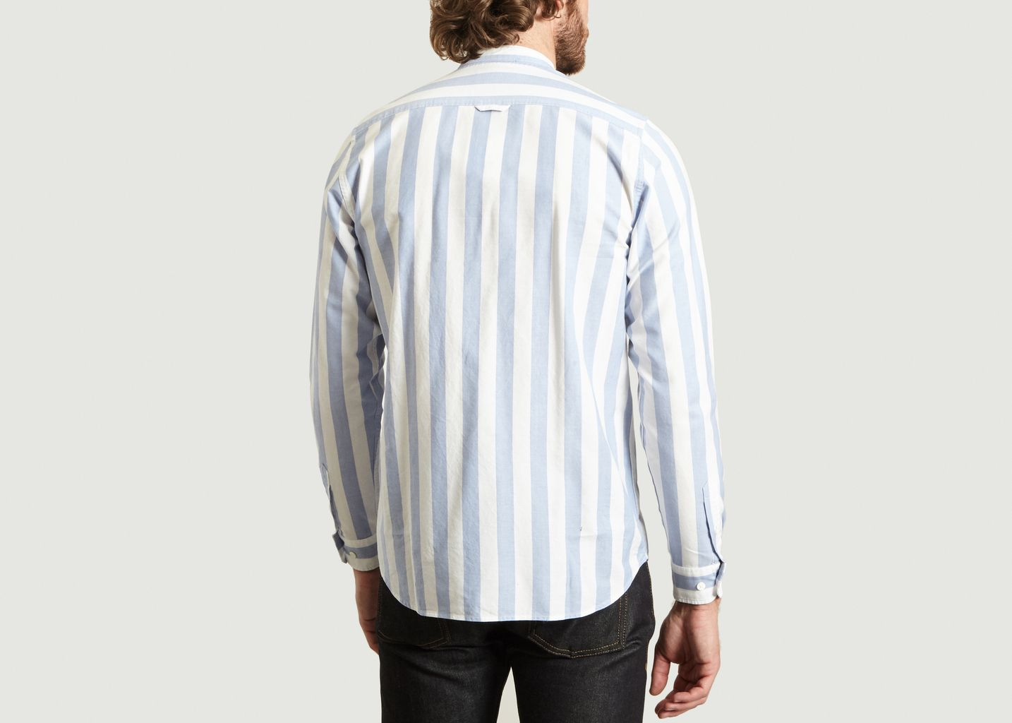 Chemise Hans Rayé Col Mao - Norse Projects