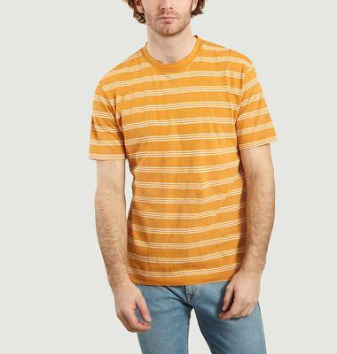 T-shirt rayé en coton et lin Johannes