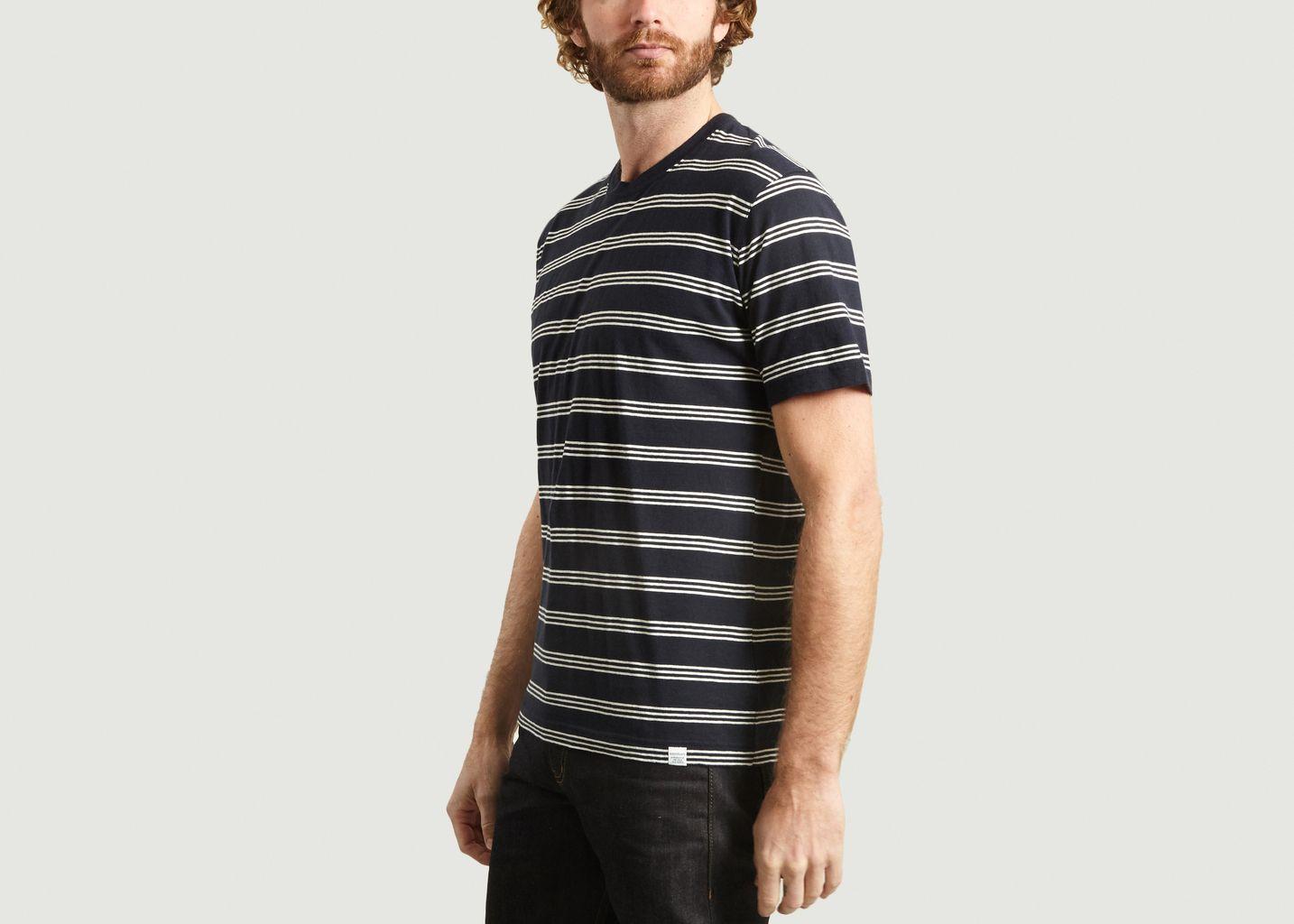 T-shirt rayé en coton et lin Johannes - Norse Projects
