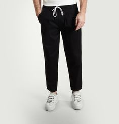 Plain Tapered Trousers