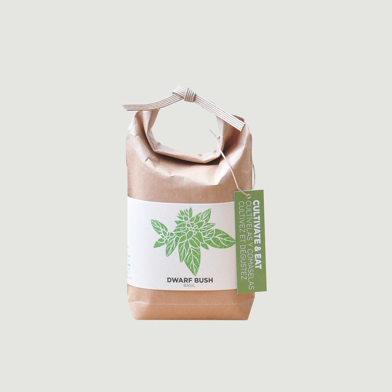 Cultivate & Eat-Basil Set Dwarf Bush - Noted