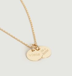Medallion Necklace /On s'aime