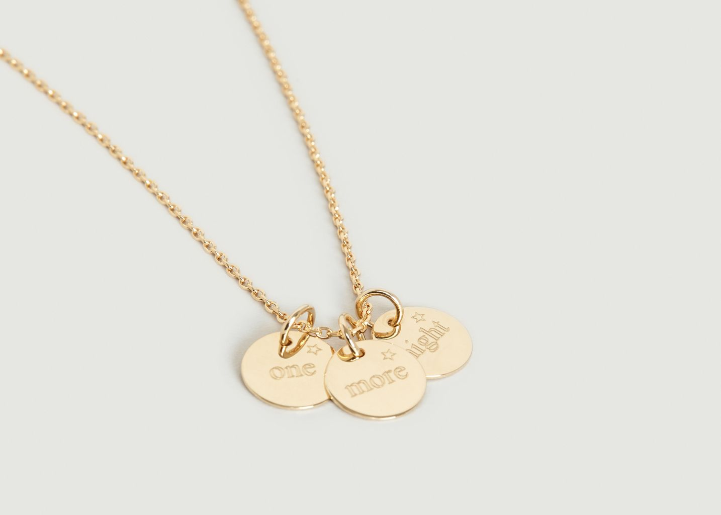 Collier 3 Médailles One / More / Night - Nouvel Amour