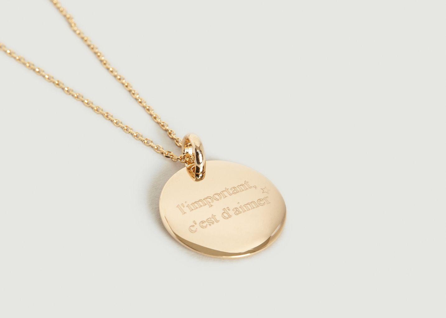 Collier Médaille L'Important C'est d'Aimer - Nouvel Amour