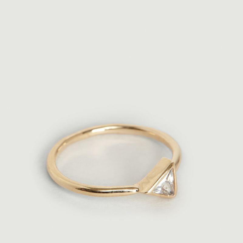 Bague Zircon Triangle Flèche - Nouvel Amour