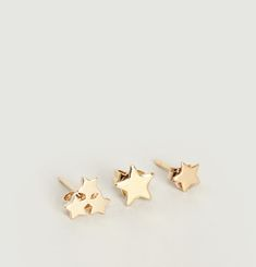 Star Stud Earrings Set
