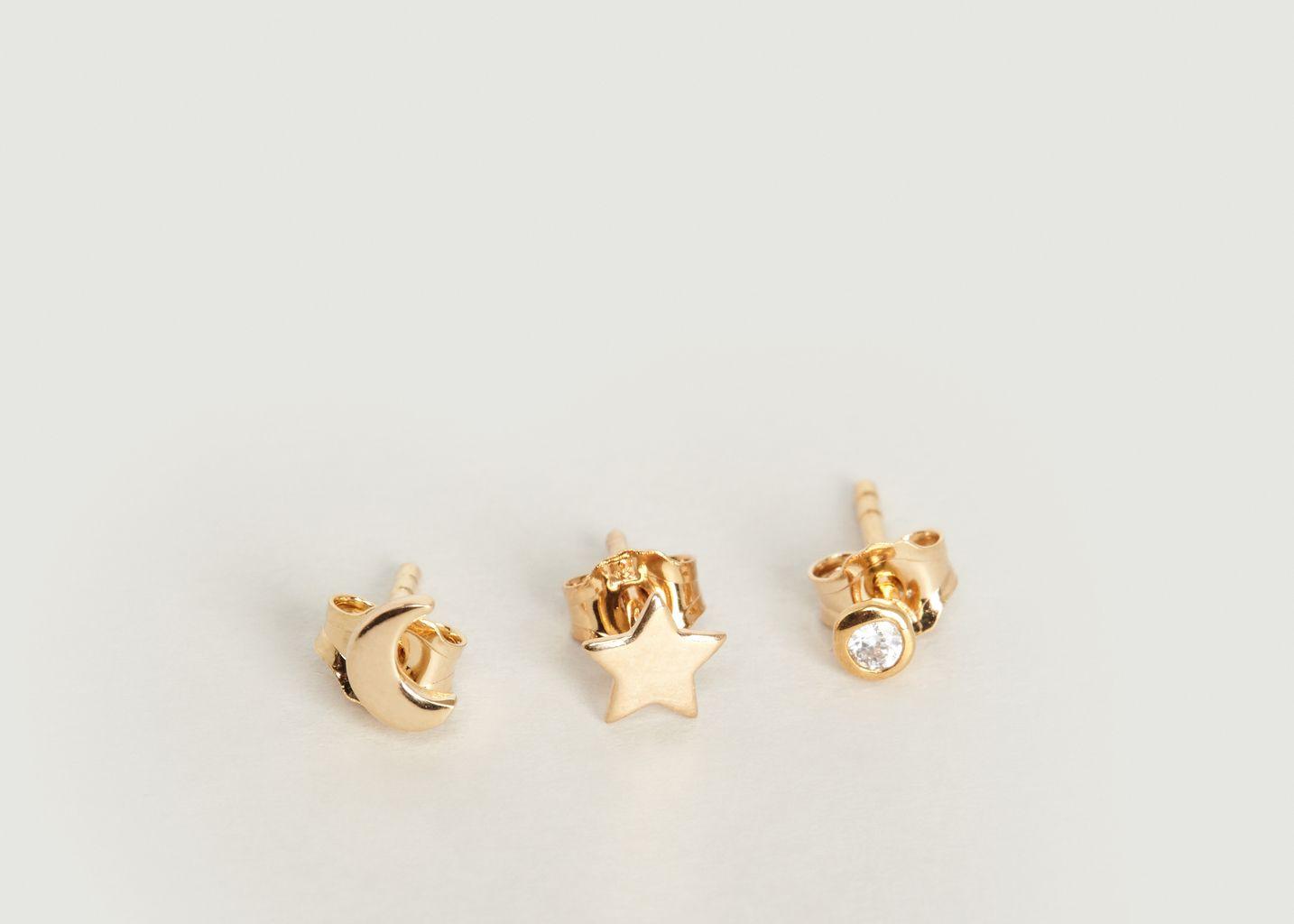 Boucles D'Oreilles Trio  - Nouvel Amour