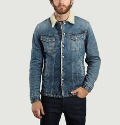Veste En Jean Lenny Heavy Used Denim